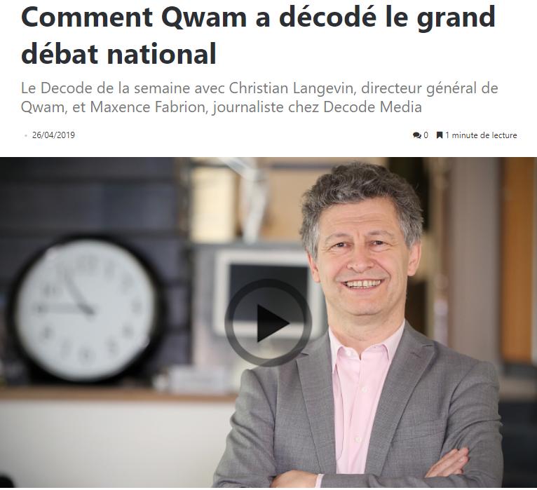Comment QWAM a décodé le Grand Débat National
