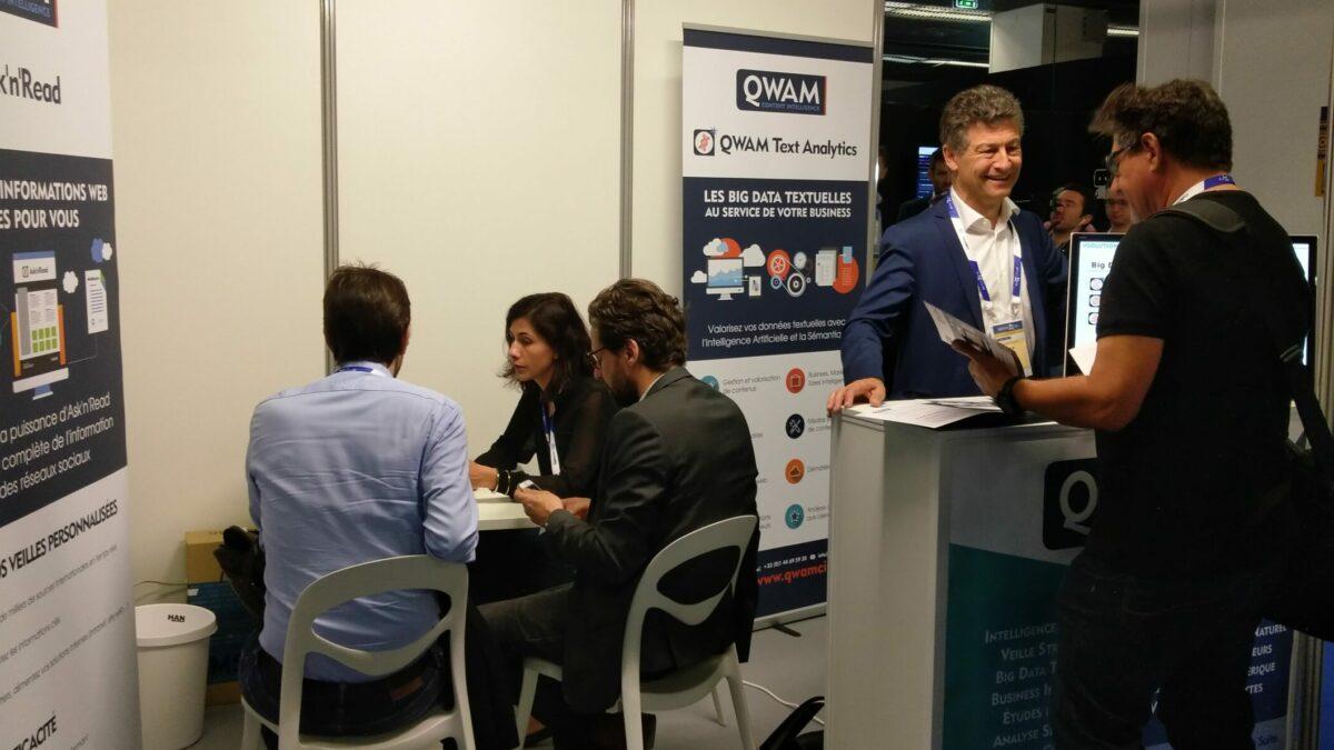 QWAM participe aux salons autour du traitement des données textuelles